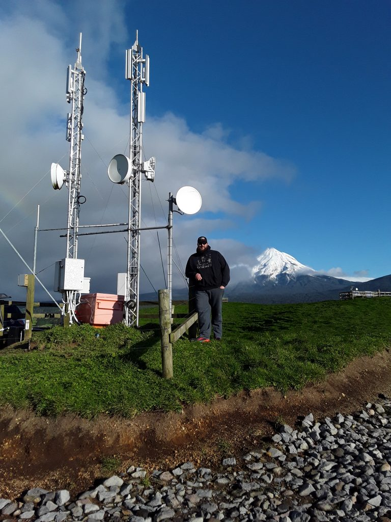 Matthew Harrison at the German Hill site which serves 180 Primo customers in western Taranaki