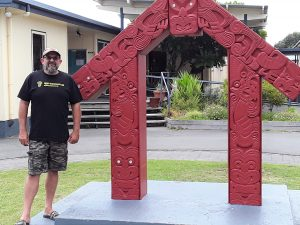WiFi Connect founder Ivan Lomax outside Tolaga Bay school