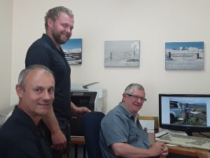The MATnet team: Hoppie Joubert and Gren Povall, and recent apprentice Marcus Allan.