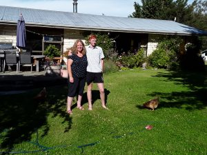 Accountant Susan Allan with son Joel