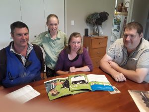The Coates family – Murray, Emma, and Gaye, with Zelan's Mark Kersten